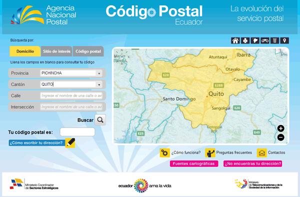 Código Postal Ecuador